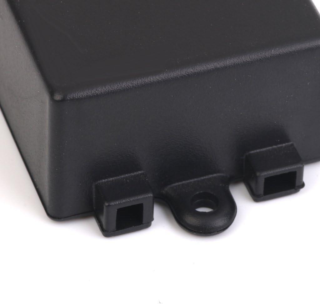 SNOWINSPRING 65 X 38 X 22 mm Caja de terminales de plastico para Placa de Circuito Negro