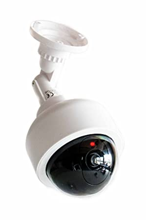 Cámaras de Seguridad Falsa, redondas construcción, Inalámbrico, funciona con pilas, 1 LED
