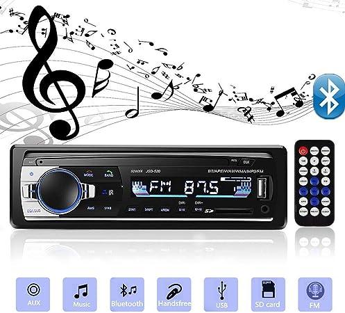Yolispa Autoradio Bluetooth Stereoanlage Mit Usb Sd Elektronik