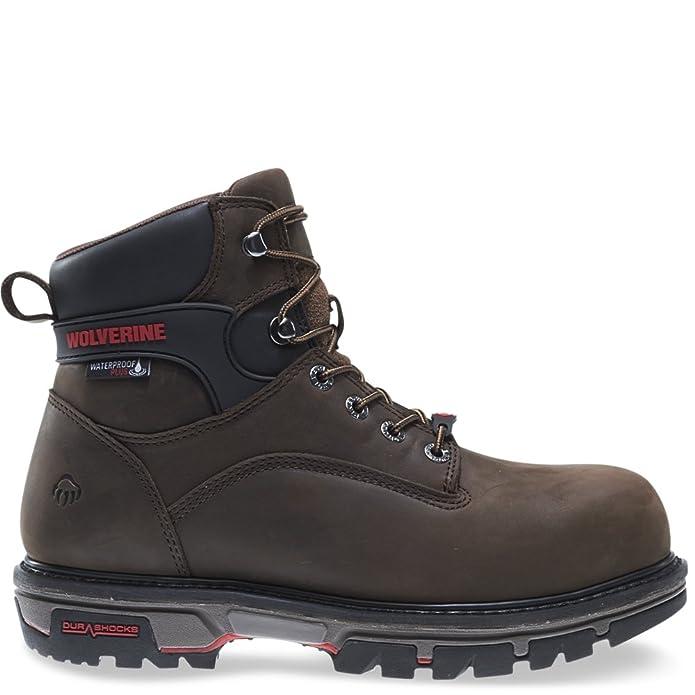 106d4bb3f18 Wolverine Men's Nation 6 Inch Waterproof Comp Toe Work Shoe