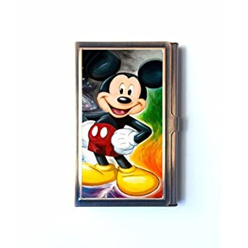 Mickey mouse business card holders credit id card wallet name mickey mouse business card holders credit id card wallet name card case stainless colourmoves