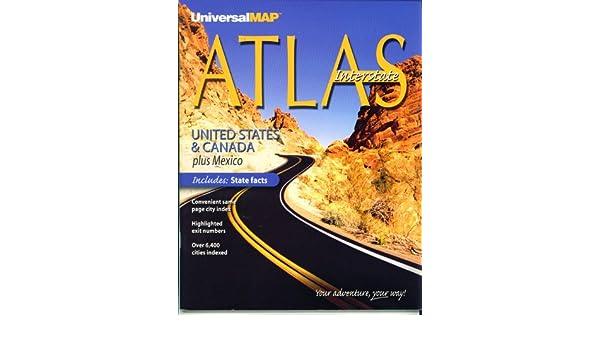 Amazon.com : Atlas Interstate - United States & Canada plus Mexico ...
