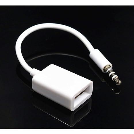 CRH 3,5-mm-AUX-Audio-Klinkenstecker auf USB 2.0-Konverterkabel Buchse