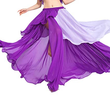 ROYAL SMEELA Falda de Danza del Vientre Ropa de Baile para Mujer ...