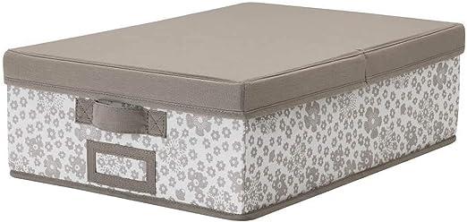 IKEA ASIA STORSTABBE - Caja con tapa, color beige: Amazon.es: Hogar