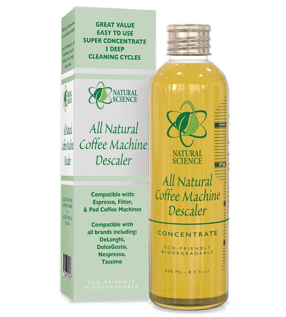 Máquina de café descalcificador natural limpiador - poco olor concentrado removedor de cal - Compatible con cualquier Espresso, filtro, cápsulas - ...