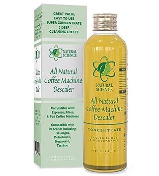 Máquina de café descalcificador natural limpiador - poco olor concentrado removedor de cal - Compatible con cualquier Espresso, filtro, ...