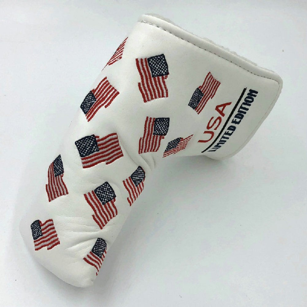 Dnyan USA Flag Limited Editionゴルフクラブパターヘッドカバーヘッドカバーfor Scotty Cameron Odyssey Blade Callaway Taylormade Titleist Ping Mizuno B07DJRRBST