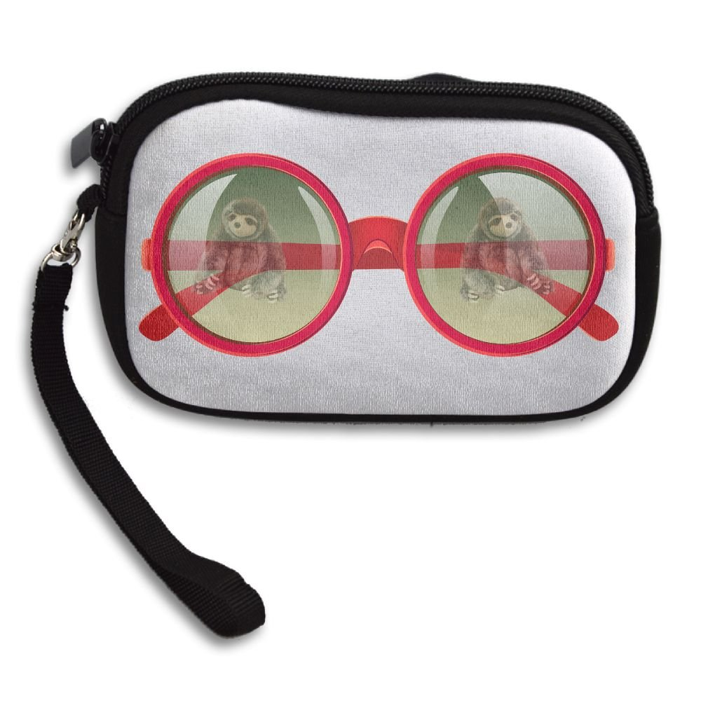 Book Sloth In Glasses Comfortable Coin Purse Storage Package Wallet Zipper Mini Wallet