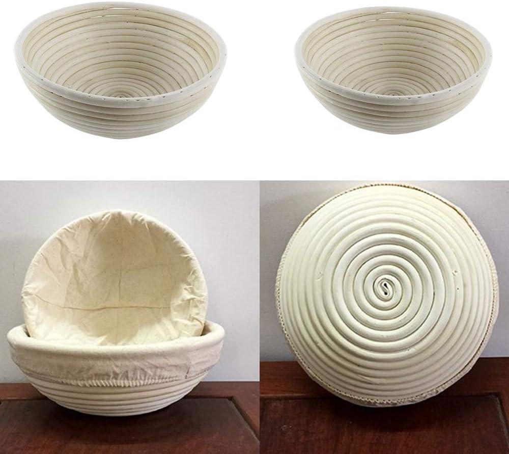 Buntha.winee7098 Round Storage Basket Dough Rising Rattan Bread Proofing Basket