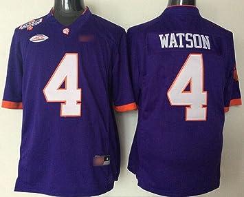 Mrmslove Juventud Clemson Tigers Watson # 4 Camiseta de Fútbol Home, Color Morado, Púrpura