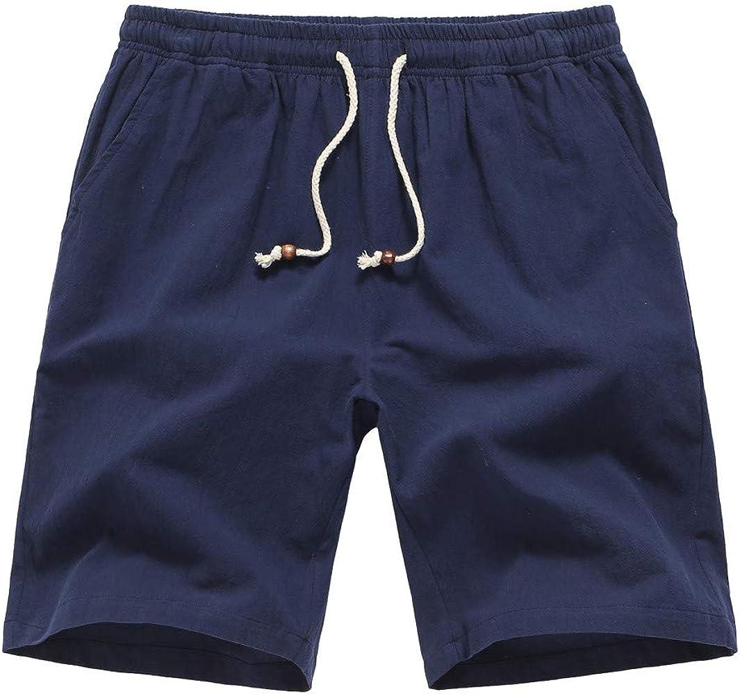 ICN&CVKX Pantalones Rotos Hombre, de los Hombres Moda Lino ...