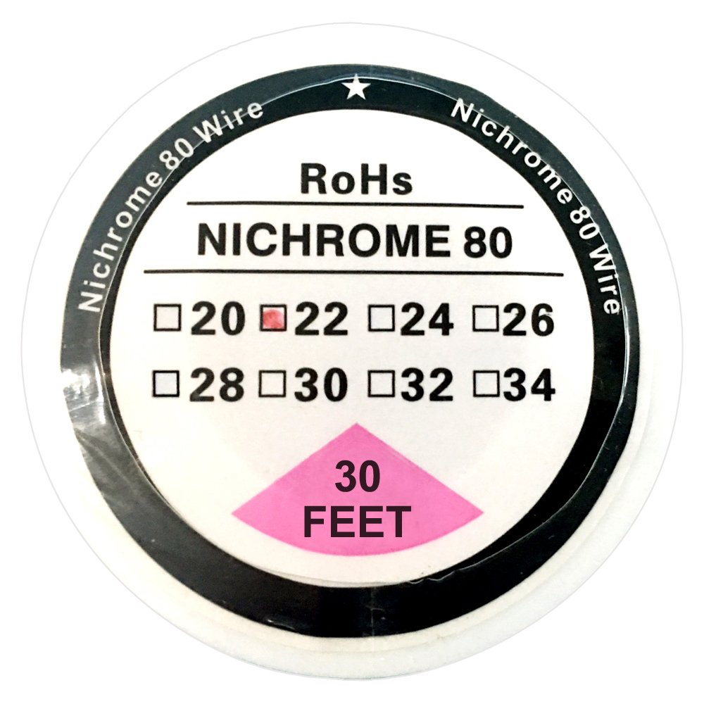 Youthshare Nichrome 80 Wire 30ft Ni80 Resistance Wire (10m) Spool 22-32G AWG (22G)