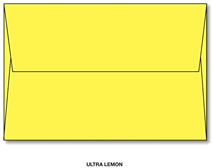 amazon com a7 ultra lemon yellow envelope size a7 5 1 4 x 7 1