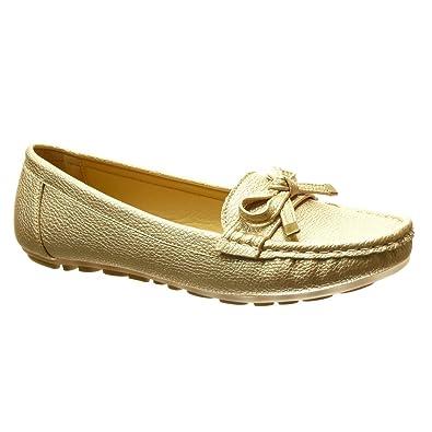 Angkorly Zapatillas Moda Mocasines Slip-on Mujer Nodo Metálico Tacón Plano 0 CM: Amazon.es: Zapatos y complementos