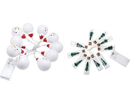 Exing 2 pcs Navidad Tiras LED Tira Luz LED, Blanco cálido, Botellas de Cristal