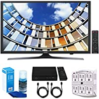 Samsung UN49M5300- 49-Inch Full HD Smart LED TV w/ Tuner Bundle Includes, HD Digital TV Tuner, SurgePro 6-Outlet Surge Adapter w/ Night Light, 2x 6ft. HDMI Cable & Screen Cleaner For LED TVs