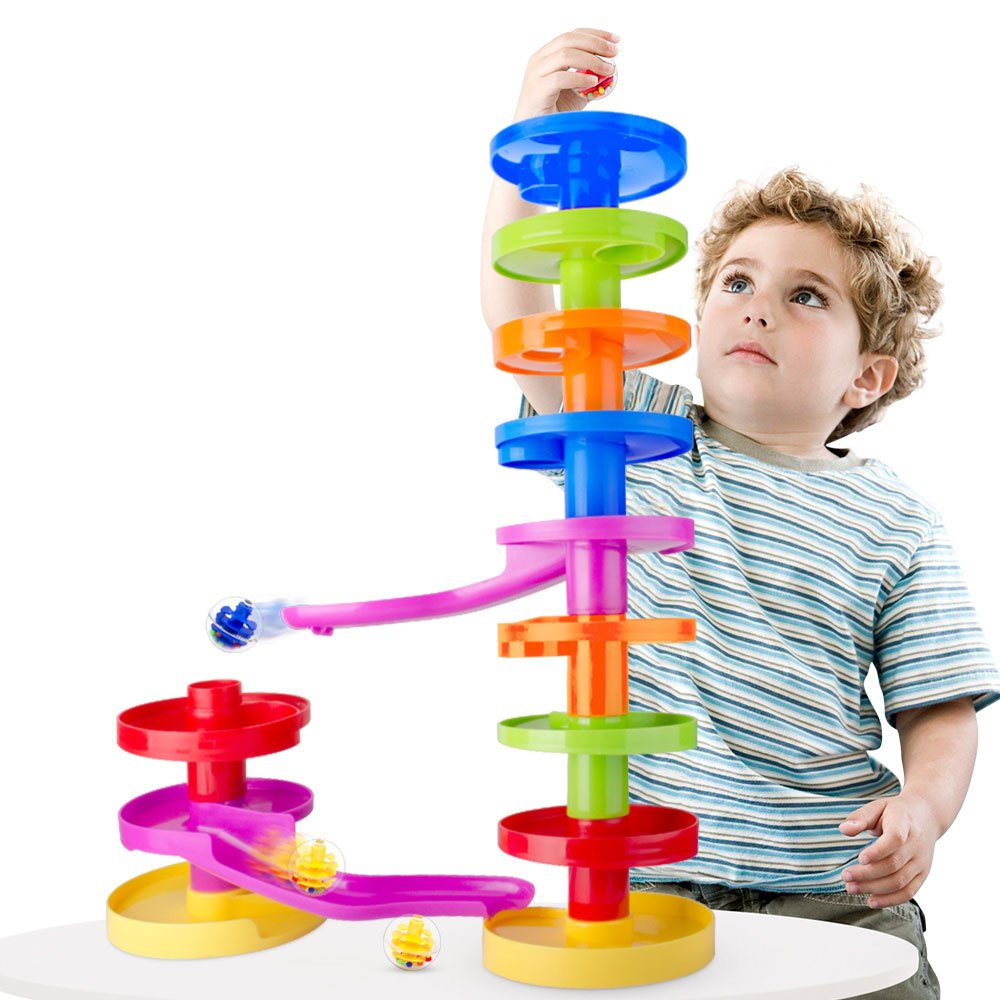 www Limited Jeu Educatif en Famille pour les Tout Petits Circuit à Billes pour Bébé Ball Drop avec Rampe