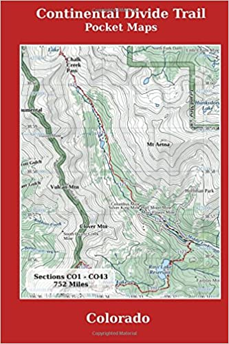 Continental Divide Colorado Map Continental Divide Trail Pocket Maps   Colorado: K Scott Parks  Continental Divide Colorado Map