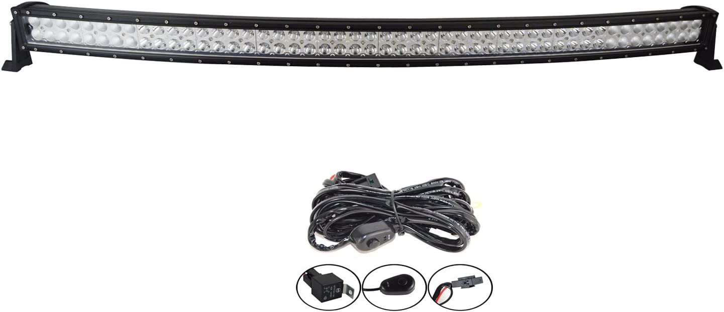 Willpower 52 inch 300W Spot Flood Combo LED Work Light Bar with Wiring Harness Kit for Truck Car ATV SUV 4X4 4WD Jeep Truck Driving Lamp 10-30V DC