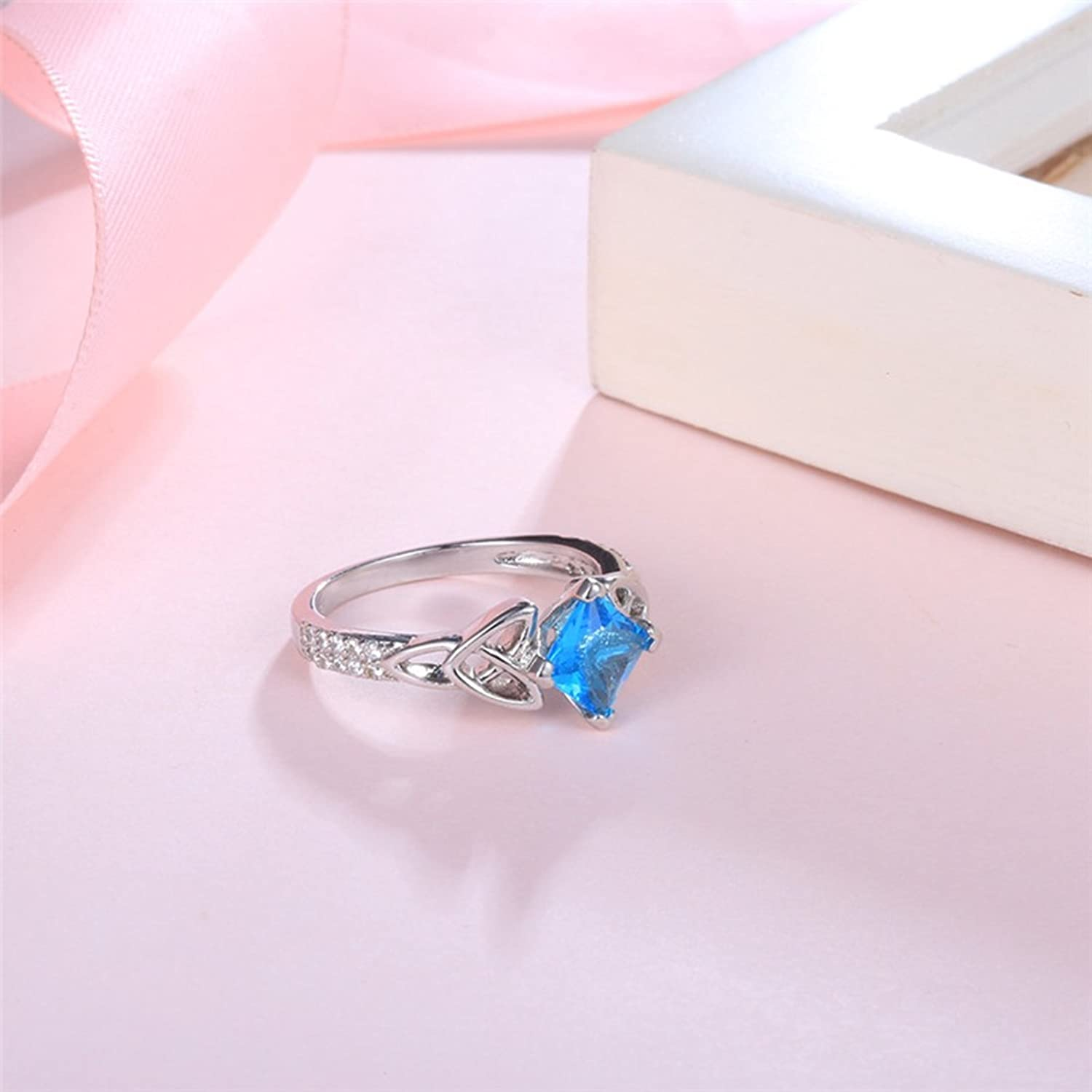 Cubic Zirconia Wedding Engagement Rings Vintage Celtic Knot Jewelry ...