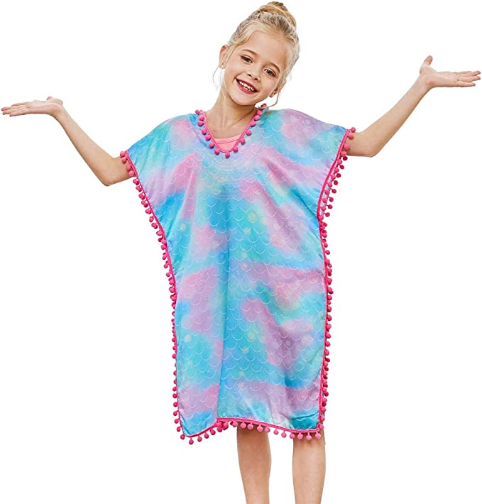 Amazon.com: QtGirl cubierta para niñas traje de baño ...
