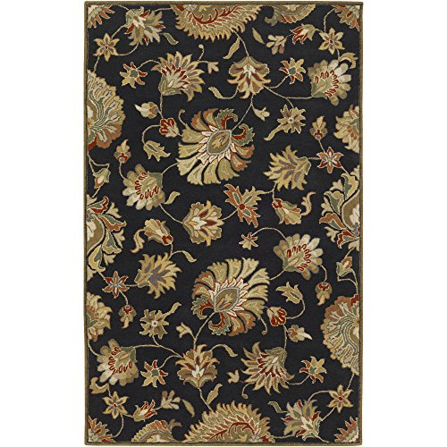 Traditional Hand Tufted Sage (Surya Caesar CAE-1027 Classic Hand Tufted 100% Wool Coal Black 9' x 12' Traditional Area Rug)