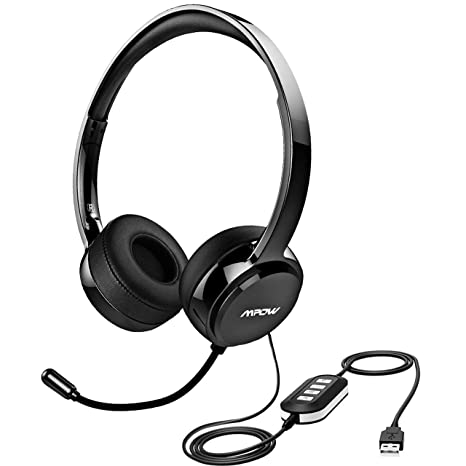 Amazon Com Mpow 071 Upgraded Durability Version Usb Headset With