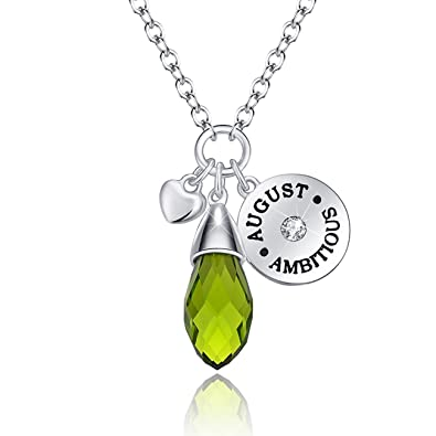 and dot necklace green peridot products birthstone normal solitaire embersjewellery pendant gold
