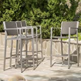 Cheap Capral Outdoor Grey Wicker Barstools (Set of 4)