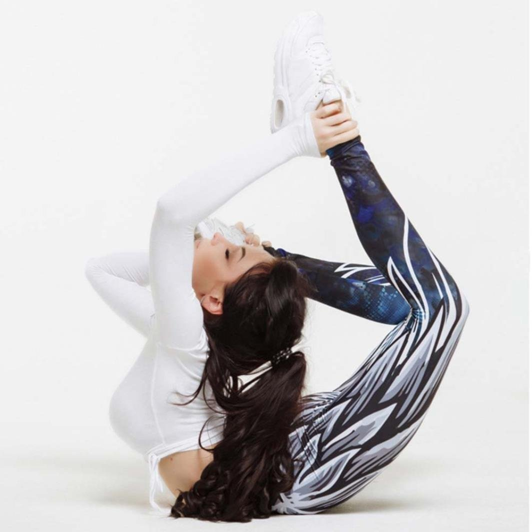 Vcenty Womens Wing Printed Yoga Workout Leggings Fitness ...