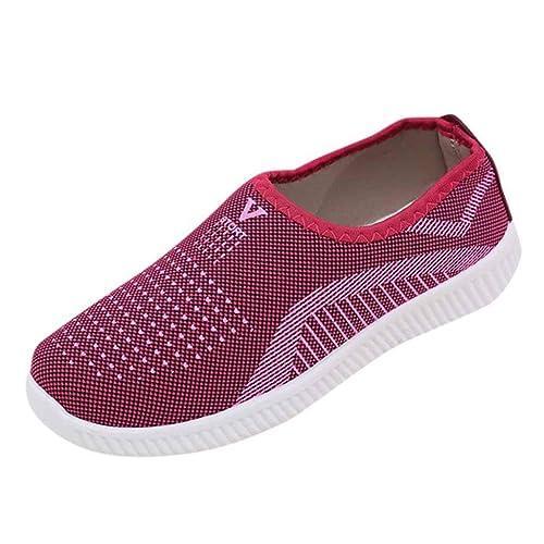 36 dunkelrot Freizeitschuhe Slipper Turnschuhe Sneaker Damen Schuhe Gr