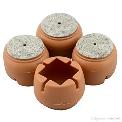 Okayji Silicone Durable Flexible Anti-Slip Anti-Scratch Noise Reducer Floor Protection Soft Cover Caps Pads for Chair Legs, 35-55mm, 4-Pieces Set