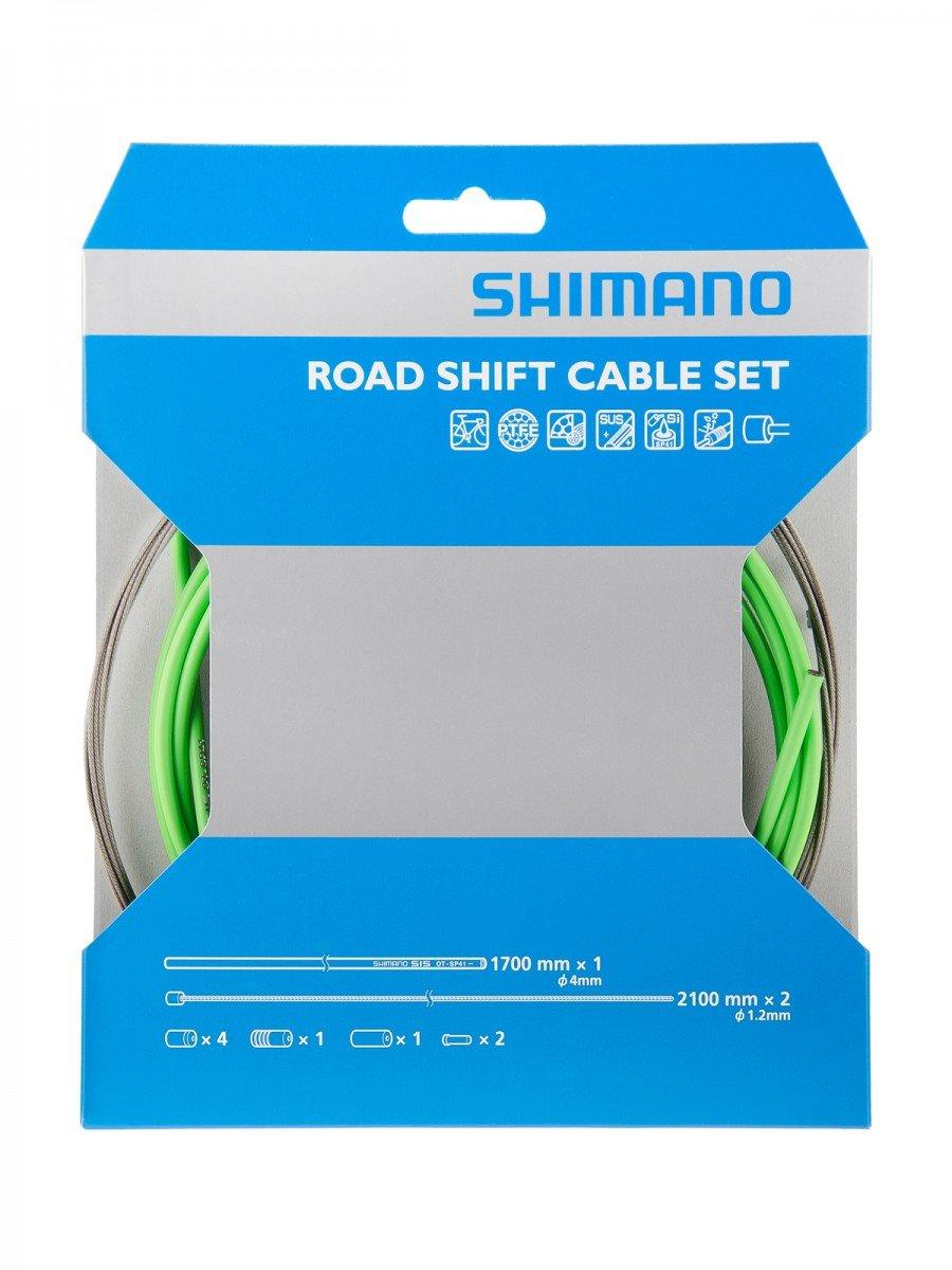 SHIMANO(シマノ) ロードPTFEシフティングレバー用ケーブルセット グリーン Y60098016 B004PWCXPE