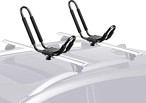 Kayak Roof Rack Universal Kayak  Carrier Rack J Foldable Car Rooftop Mount