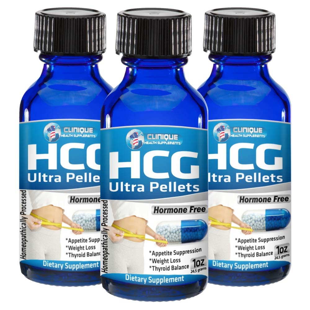1Clinique's HCG Ultra Pellets | Fast Acting Pellets | Value Pack of 3 x 120 Pellets | Weight Loss - Energy - Appetite Suppression - Thyroid Balance | Made in USA