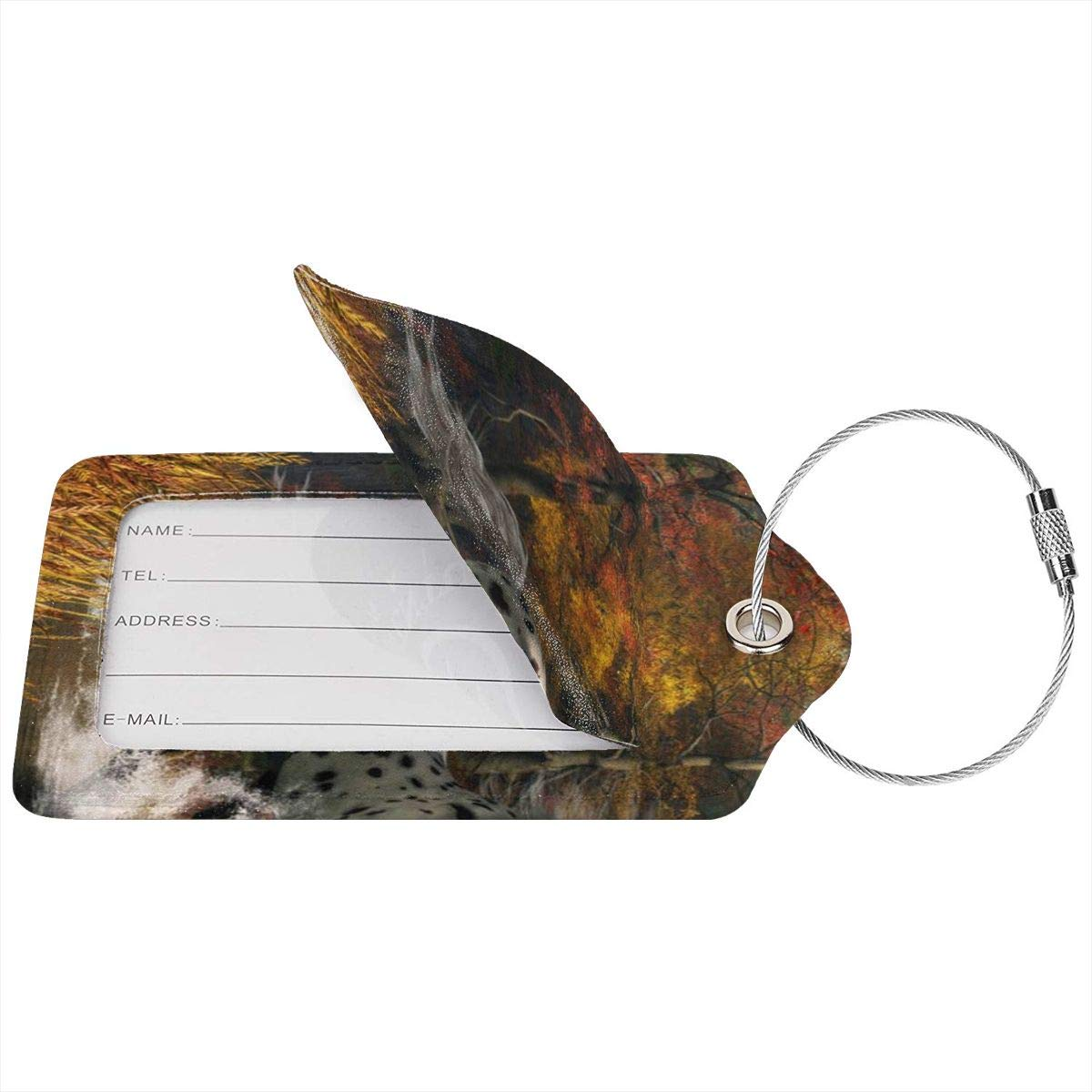 Appaloosa Horse Luggage Tag Label Travel Bag Label With Privacy Cover Luggage Tag Leather Personalized Suitcase Tag Travel Accessories