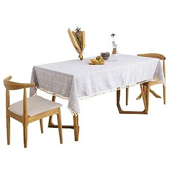 Table Tissu Tissu Coton/Jardin Européen Plaid Rectangulaire Table ...