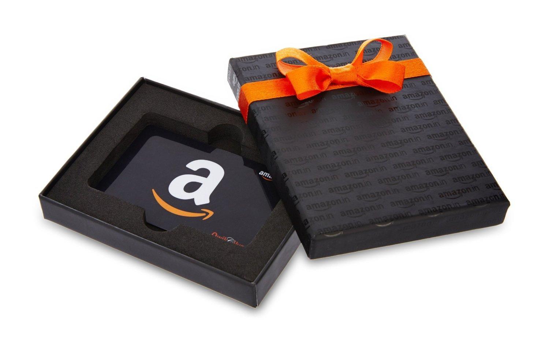 Amazon.in Black Gift Card Box - Rs.1000, Black Card: Amazon.in ...