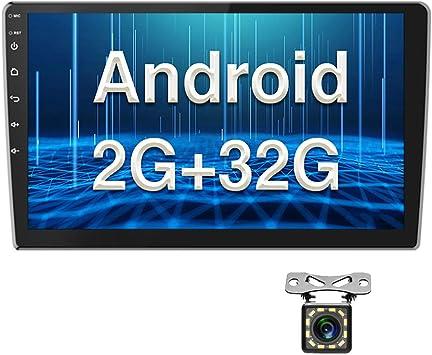Radio de Coche Android 2G+32G Pantalla Táctil de 10 Pulgadas Estéreo GPS CAMECHO 2 DIN Bluetooth WiFi Sat Navi FM Enlace de Espejo de Teléfono Móvil ...