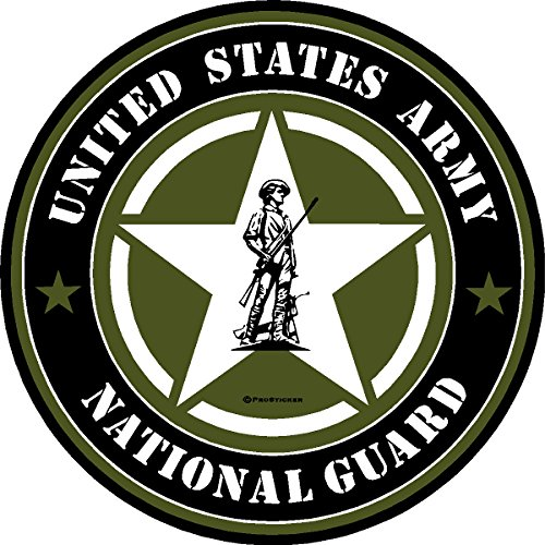 "ProSticker 1116 (One) 4"" Military Series ""United States Army National Guard"" Decal Sticker"