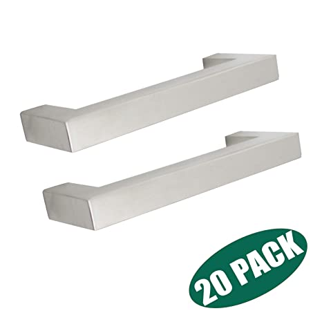 20 Pack Stainless Steel Cabinet Pulls And Knobs In Brushed Nickel