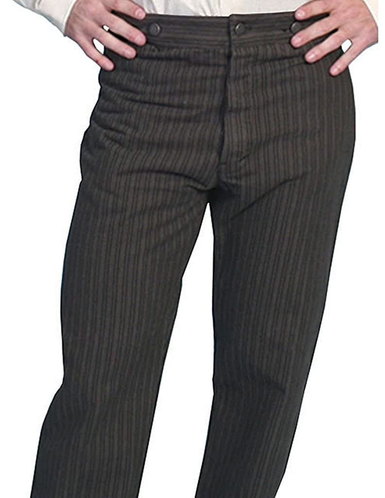 Scully Wahmaker Men's Wahmaker Cotton Saddle Cut Stripe Pants - 592404-Tau WahMaker by Scully 075313