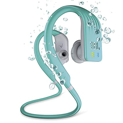 bb27267a7ae Amazon.com: JBL Endurance Dive Waterproof Wireless In-Ear Sports Headphones  with Built-in Mp3 Player (Teal): Health & Personal Care