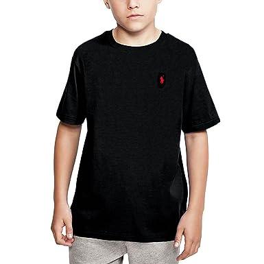Ralph Lauren - Camiseta de Manga Corta - para niño Negro Polo ...