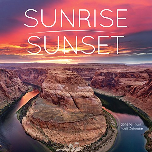 Avalon 2018 Sunrise/Sunset Wall Calendar, 16 Month Calendar, 12 x 12 inches (82378)