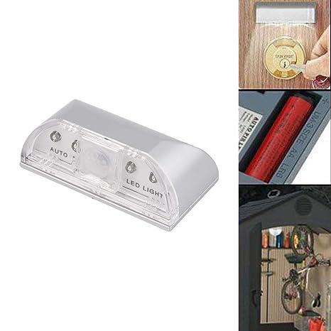Lorenlli Puerta PIR automática Detector de Sensor de Movimiento de Ojo de la Cerradura LED Lámpara ...