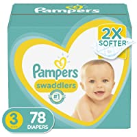 Diapers Size 3, 78 Count - Pampers Swaddlers Disposable Baby Diapers, Super Pack