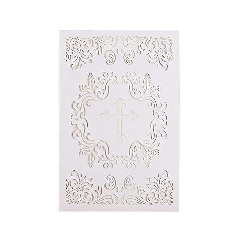 amazon com 25pcs elegant baptism invitations large 4 7 x 7 cards