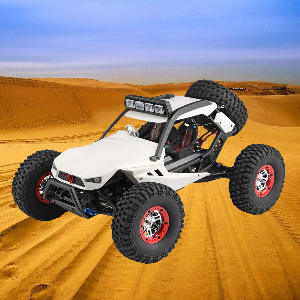 Choosebuy❤️ Wl 540 Brush Motor High Speed 40km/h 1:12 4D 2.4GHz Radio Off-Road Remote Control Car Racing with LED Children Adults Christmas Birthday Gift (White) by Choosebuy (Image #7)